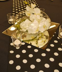 black white centerpiece