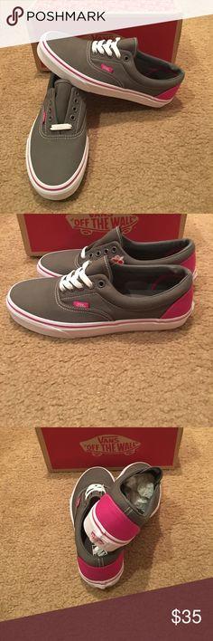 Heel Pop Era Vans New in box. Pewter/Fuchia red Vans Shoes Sneakers