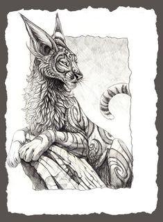 Fantasy Feline by hibbary.deviantart.com on @deviantART
