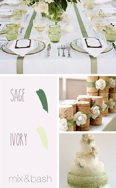 Bridal Shower Colors, Color Combos, Color Schemes, Spring Shower, Centerpieces, Table Decorations, Nature Inspired, Sage, Bridesmaids