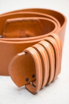 Natural & Oxidized Silver 5 Loop Hook Belt