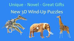3D Wind Up Toys Puzzles - From Green Ant Toys http://www.greenanttoys.com.au