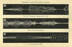 Seeing Sounds- The Phonodeik 1908 / Dayton Miller