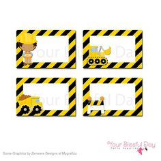 Laura R's Birthday / Dump Truck & Construction Party - Photo Gallery at Catch My Party Construction Birthday Parties, Construction Theme, Party Labels, Party Printables, Tool Party, Baby First Birthday, Happy Birthday, Monthly Themes, Food Themes