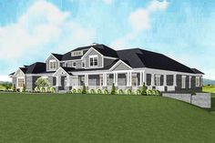Craftsman home with Spectacular Master Suite - thumb - 02 Perfection for 1 floor! Dream House Plans, House Floor Plans, My Dream Home, Mansion Floor Plans, Dream Homes, Large House Plans, Architectural Design House Plans, Architecture Design, Craftsman House Plans