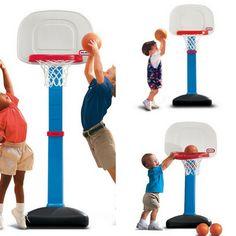 Basketball Set Score Hoop 3Ball Backboard Toy Sized Adjustable Indoor Outdoor Pl