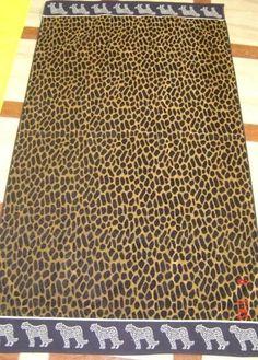 """Leopard"" 40x70 Egyptian cotton Beach Towel"