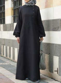 Love the #linen from shukrclothing.com-  Aqila Linen Dress