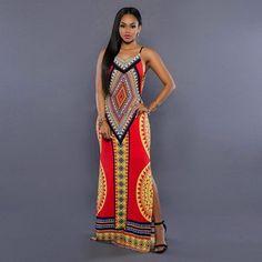 Women Summer Maxi Dress Bodycon Party Dresses Plus Size Vestidos Sexy Sundress Backless Bandage Dashiki Boho Long Dress