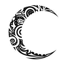 maori tattoos in forearm Tribal Moon Tattoo, Moon Sun Tattoo, Tribal Tattoos, Sun Moon, Wolf Tattoos, Body Art Tattoos, Small Tattoos, Tatoos, Luna Tribal