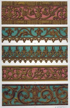 Latest Trend In Embroidery on Paper Ideas. Phenomenal Embroidery on Paper Ideas. Border Pattern, Border Design, Pattern Art, Pattern Design, Paper Embroidery, Learn Embroidery, Embroidery Patterns, Molduras Vintage, Duct Tape