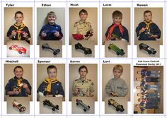 Pinewood Derby. OMG I'm thinking like baseball cards for the Scouts...with stats, etc. perfect for the scrapbook!!!