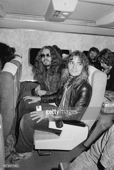 David Coverdale, singer with English rock group Deep Purple sits in an airline seat beside guitarist Tommy Bolin on an internal flight during their tour of Japan in December Get premium, high resolution news photos at Getty Images Blues Rock, Hard Rock, Heavy Metal, Billy Cobham, Tommy Bolin, Blackmore's Night, David Coverdale, Rock Groups, Progressive Rock