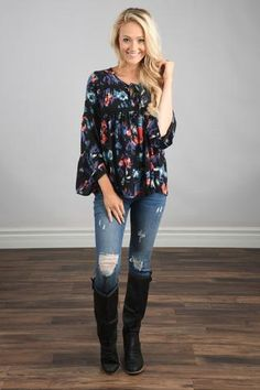 One In A Million Floral Tunic Top