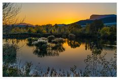 Provence, River, Celestial, Sunset, Nature, Outdoor, Mountains, Sunsets, Outdoors
