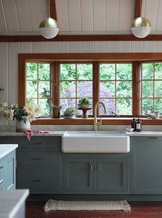 kitchen with wood trim