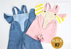 (9) Name: 'Sewing : Elephant overalls / 2T-12