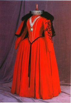 """From """"The Virgin Queen"""" (1955) worn by Bette Davis as Queen Elizabeth I design by Mary Wills"""