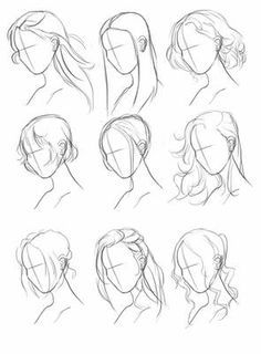 Art Drawings Sketches Simple, Pencil Art Drawings, Cute Drawings, Hair Drawings, Body Sketches, Fantasy Drawings, Drawing Techniques, Drawing Tips, Drawing Ideas