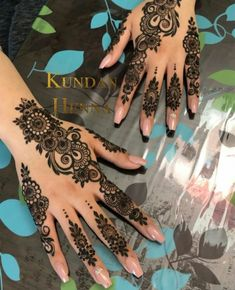 Pretty Henna Designs, Modern Henna Designs, Finger Henna Designs, Arabic Henna Designs, Mehndi Designs 2018, Mehndi Design Photos, Mehndi Designs For Fingers, Mehndi Designs For Hands, Henna Tattoo Designs