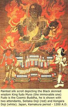 Black Diaspora, Black Asia, Samurai Warriors, Fudo Myoo, Myoo Japan, Japan Deities, Black Japan, Black China, Ancient Black China.