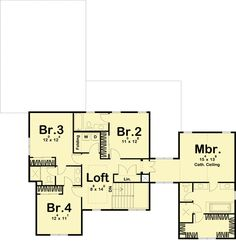 Modern Farmhouse Plan with Two Garages and a Covered Breezeway - Best House Plans, Modern House Plans, Modern Farmhouse Plans, Farmhouse Style, Garage Apartment Plans, Shower Floor Tile, Mountain House Plans, Craftsman Style House Plans, Roof Plan