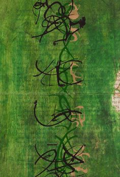 """Asemic Work from Kerri Pullo. (Asemic writing is a wordless open semantic form of writing. The word asemic means """"having no specific semantic content. Lettering, Typography, Hybrid Art, Street Art, Scribble Art, Collage Techniques, Writing Art, Sally Harrison, Visual Texture"""