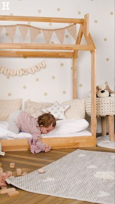 43 Creative Toddler Bedroom Design Ideas To Try Asap - Is it time for you to clear out your child's crib and design a bedroom centered around your toddler's interests? One of the best ways to do this is by. Baby Bedroom, Baby Room Decor, Nursery Room, Room Decor Bedroom, Girls Bedroom, Toddler Rooms, Toddler Bed, Kids Rooms, Kids Room Bed