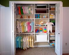 Organized Baby Closet