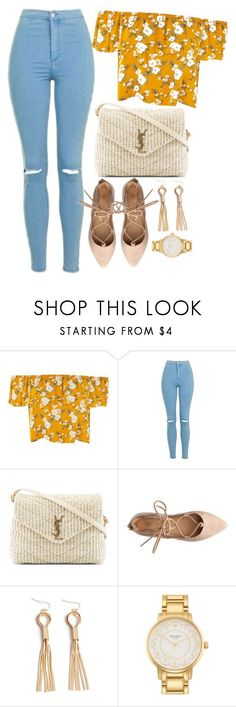 """Untitled #457"" by ksenia1ksu on Polyvore featuring Topshop, Yves Saint Laurent and Kate Spade"