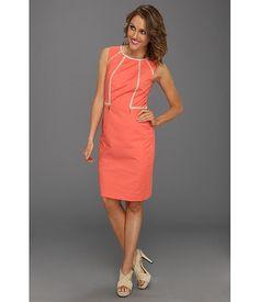 Calvin Klein Piped Sheath Dress Porcelain Rose - 6pm.com $54.99. An amazing shift dress!