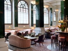 The hottest place in London right now is undoubtedly The Ned, the new hotel and members' club from Soho House and the Sydell Group, housed in the City's former Midland Bank building. Victorian Style Furniture, Victorian Living Room, Modern Victorian, Victorian Design, Soho House, London Hotels, London Restaurants, Covent Garden, Restaurant Design