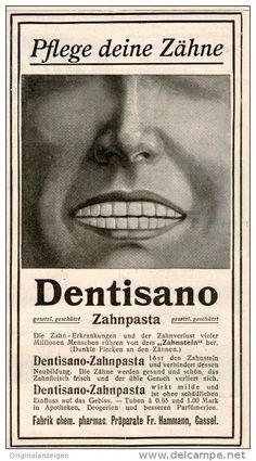 Original-Werbung/Inserat/ Anzeige 1907 :  DENTISANO ZAHNPASTA - ca.90 X 150 mm