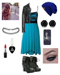"""""""Blue beanie squad"""" by nadieglaze on Polyvore featuring beauty, Yves Saint Laurent, Casetify and MAC Cosmetics"""