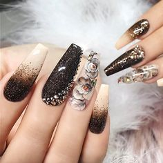 """5,323 Likes, 36 Comments - NAIL INSPO (@theglitternail) on Instagram: """": Picture and Nail Design by •• @nailsby_evon •• Follow @nailsby_evon for more gorgeous nail…"""""""