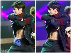 Resultado de imagem para hyungwon abs pinterest