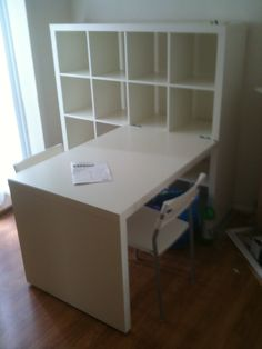 Expedit Desk Ikea Bookcase And Embly Sham By Sea