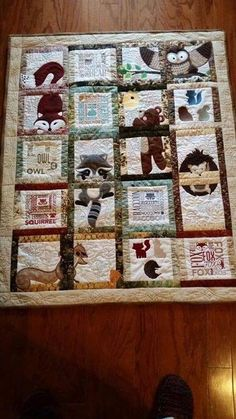 Love This Machine Embroidered Baby Quilt Anitagoodesign