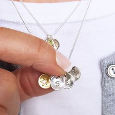 Sterling Silver Initial Necklace by Nina Louise, the perfect gift for Explore more unique gifts in our curated marketplace. Sterling Silver Initial Necklace, Semi Precious Beads, Personalized Necklace, Beautiful Gift Boxes, Silver Charms, Gifts For Friends, Special Gifts, Initials, Workshop