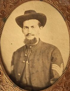 Virgil Earp, enlisted on 7/26/62 with the 83rd Illinois Infantry, Co. C. He served until 6/26/65. Original ninth plate tin from the collection of P.W. Butler.