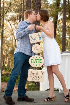 Custom Save the Date Sign. $45.00, via Etsy.