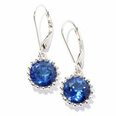 """Gem Treasures Sterling Silver 1"""" 4.00ctw Topaz """"Kellie Anne"""" Crown Earrings - 134-260  Retail Value:  $140.00 ShopHQ Price:  $87.25 Preferred Price: $79.32   Save: $7.93 (9% off)  or  3   ValuePay:    $26.44 Shipping & Handling: $5.99"""