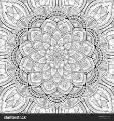 Mandala. Coloring Page. Vintage Decorative Elements. Oriental Pattern, Vector Illustration. Islam, Arabic, Indian, Turkish, Pakistan, Chinese, Ottoman Motifs - 404840248 : Shutterstock