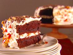 Hazelnut Crunch Cake with Mascarpone and Chocolate Recipe : Giada De Laurentiis : Food Network - FoodNetwork.com