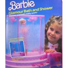 Vintage Mattel 1985 Barbie Glamour Bath & Shower - If you pump the side, it makes bubbles and water come out of the swans!- My daughter had this 1980s Barbie, Vintage Barbie, Vintage Toys, 1980s Childhood, My Childhood Memories, Barbie Dream, Barbie House, Barbie Playsets, Barbie Accessories
