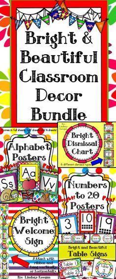 Classroom Decor Bundles ~ Classroom decoration rainbow on pinterest
