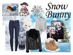 """""""snow day"""" by lejla14 ❤ liked on Polyvore featuring beauty, 7 For All Mankind, JustFab, The Row and Kate Spade"""