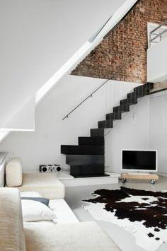 Blanc et noir tapis idée