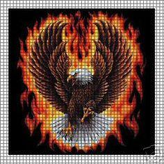 Eagle Flames Crochet Pattern $12.95