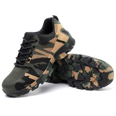 Mens Work &safety Boots Shoes Botas Hombre Air-permeable Smash And Piercing Stee. - Mens Work &safety Boots Shoes Botas Hombre Air-permeable Smash And Piercing Steel Toe Protective Sh - Camouflage, Piercing, Water Resistant Shoes, Steel Toe Work Shoes, Hiking Shoes, Bag Accessories, Athletic Shoes, Fashion Shoes, Shoe Boots